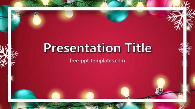 Christmas Lights PPT Template