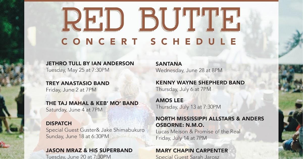 Red Butte Garden Summer Concerts