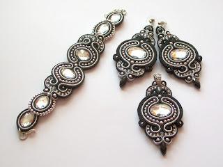 Czarno – srebrny komplet