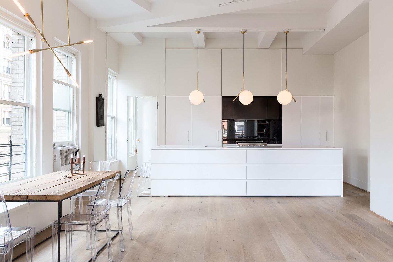 simplicity love loft in manhattan new york dieter vander velpen. Black Bedroom Furniture Sets. Home Design Ideas