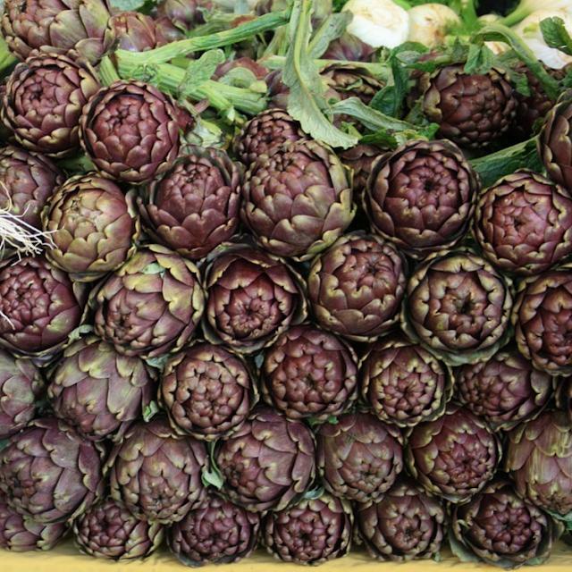 carciofi, Italian for artichokes
