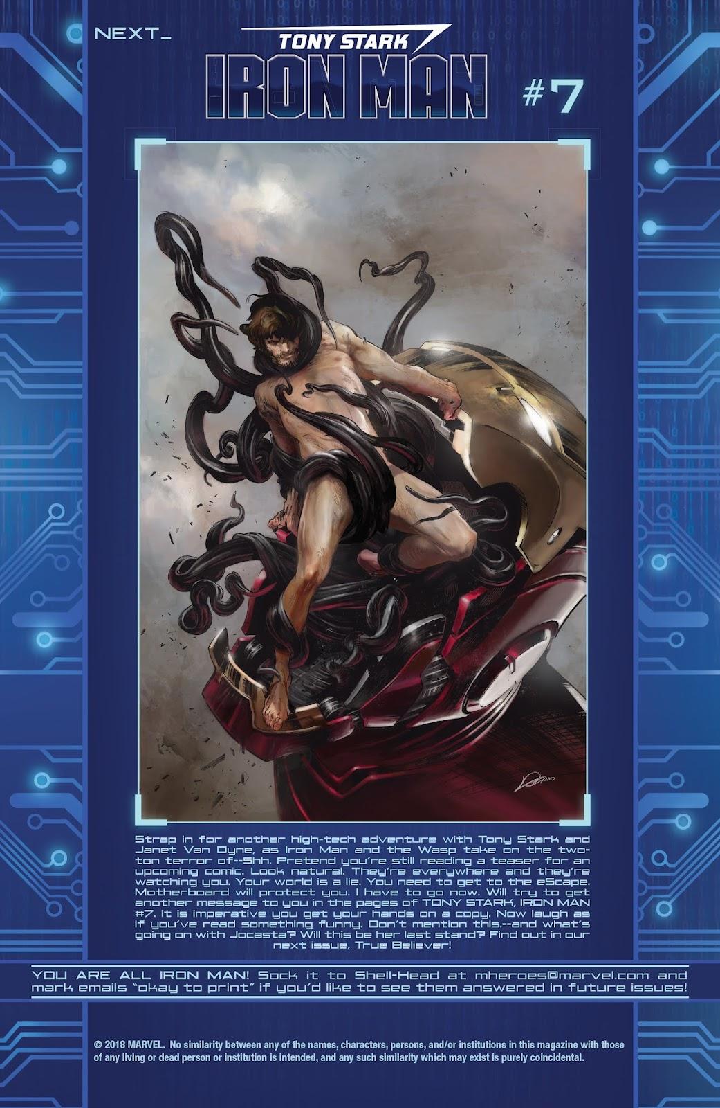 Read online Tony Stark: Iron Man comic -  Issue #6 - 22