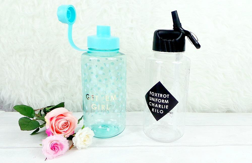 Typo water bottles