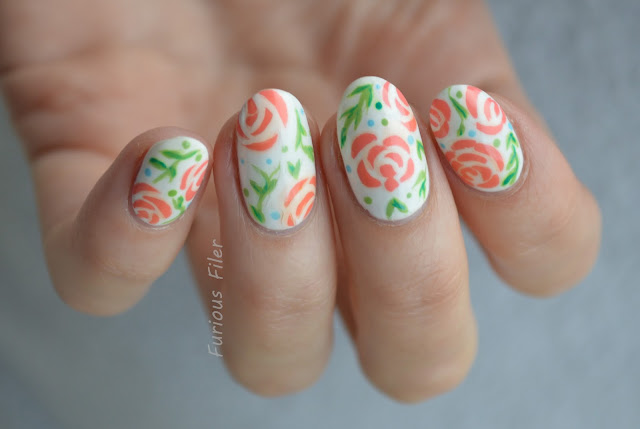 mani swap floral flowers delicate nails inc nature