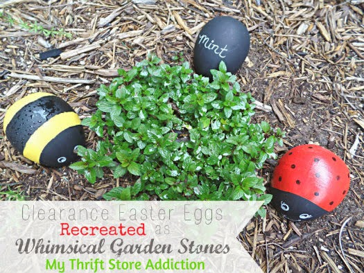 Whimsical repurposed garden bugs