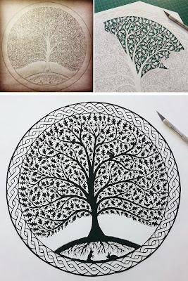 Un bonito y frondoso árbol.