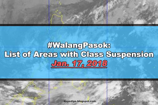 #WalangPasok: Class suspensions, Wednesday, January 17 #WalangPasok: Class suspensions, Wednesday, January...