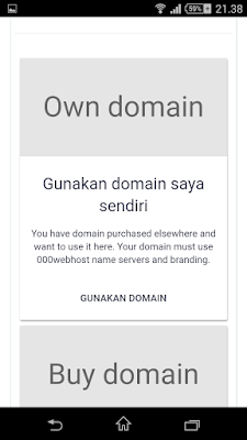 Register New domain 000webhost