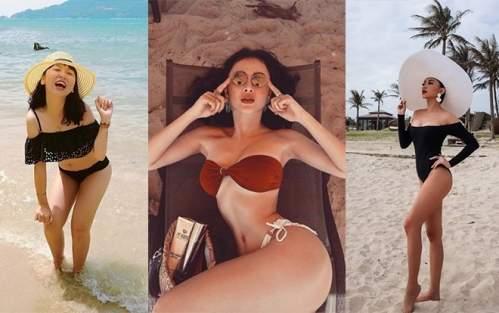 Sao Việt đua nhau diện bikini đón hè: Trang Hý lần đầu 'khoe thân', Angela Phương Trinh nóng bỏng với vòng 3 cực khủng