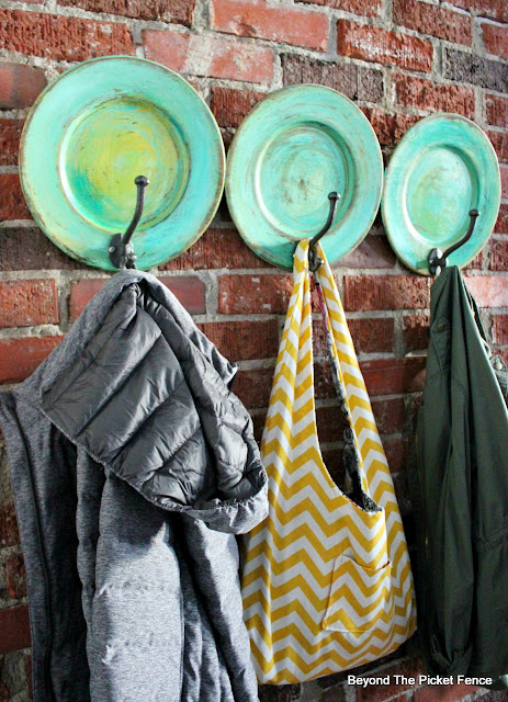 Make a Colorful Coat Rack from Thrift Store Plates