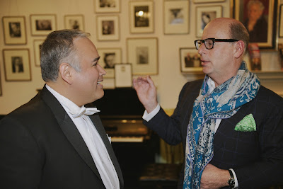 Javier Camarena & Ian Rosenblatt after Javier Camarena's Rosenblatt Recital (Photo Jonathan Rose)
