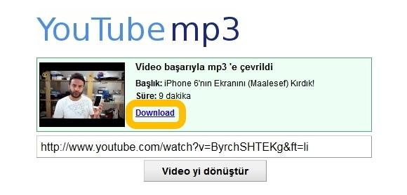 Youtube MP3 Çevirme ve Youtube MP3 indirme Siteleri.