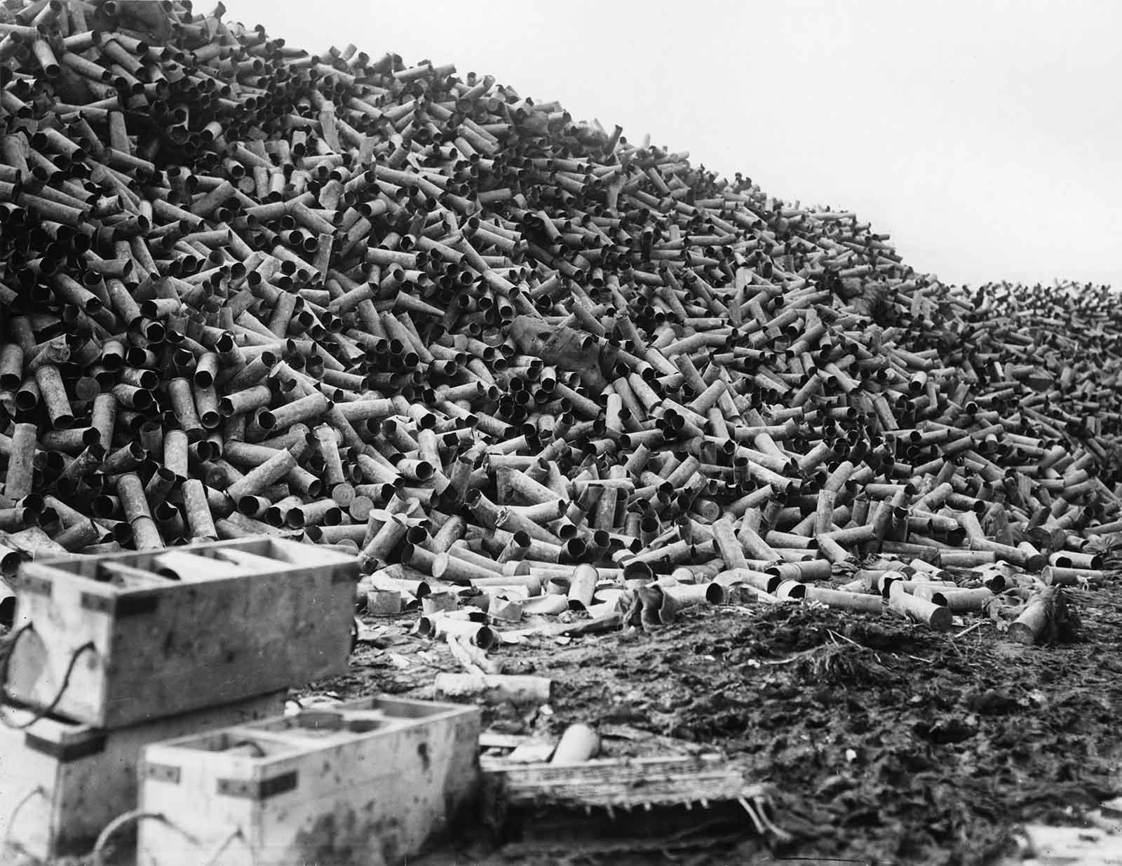 En la semana previa a la batalla, se dispararon más de 1,5 millones de proyectiles.