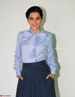 Taapsee Pannu in Light Blue Shirt and Black Top Promoing her movie Gaazi   February 2017 003.jpg