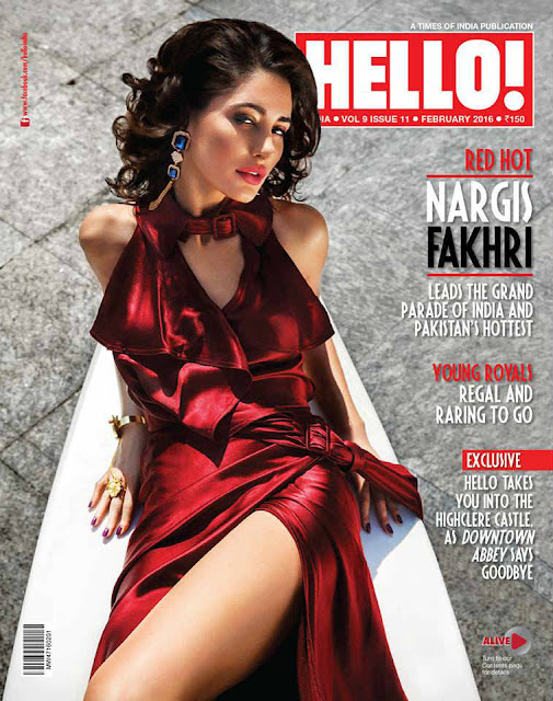 Nargis Fakhri On The Cover of Hello! Magazine February 2016 Issue