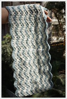 free crochet chevron infinity cowl pattern