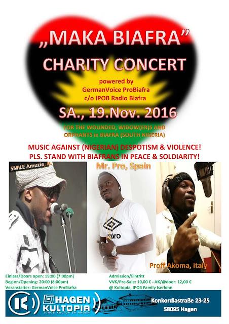 Biafra Charity concert 19 of November 2016 at Konkordiastrabe 23-25 58095 Hagen Germany MAKA-BIAFRA-CONCERT-1116