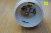 Fassung innen: kwmobile E27 Lampenfassung 3,5m Weiß - Netzkabel mit Schraubring Schalter - Lampenhalter und Kabel - Pendelleuchte - Lampenaufhängung - Hängeleuchte
