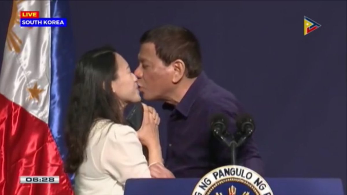 "Duterte kisses OFW on the lips, calls it ""gimmick only"""