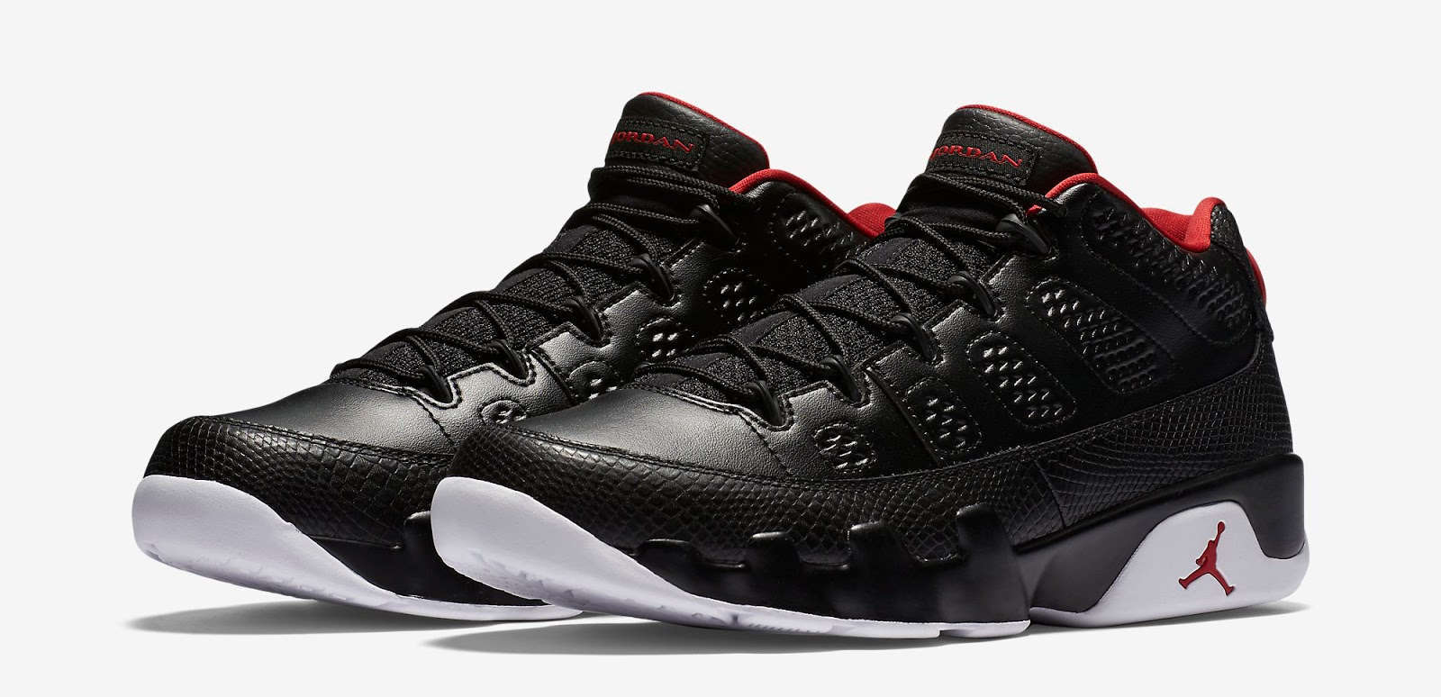 3bc9f9ed515c ajordanxi Your  1 Source For Sneaker Release Dates  Air Jordan 9 Retro Low  Black White-Gym Red Release Reminder
