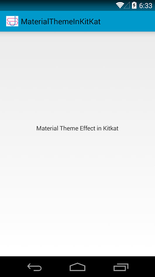 Android: Material Theme in Kitkat