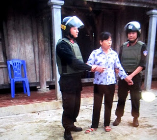 Cấn Thị Thêu bị bắt tại nhà riêng