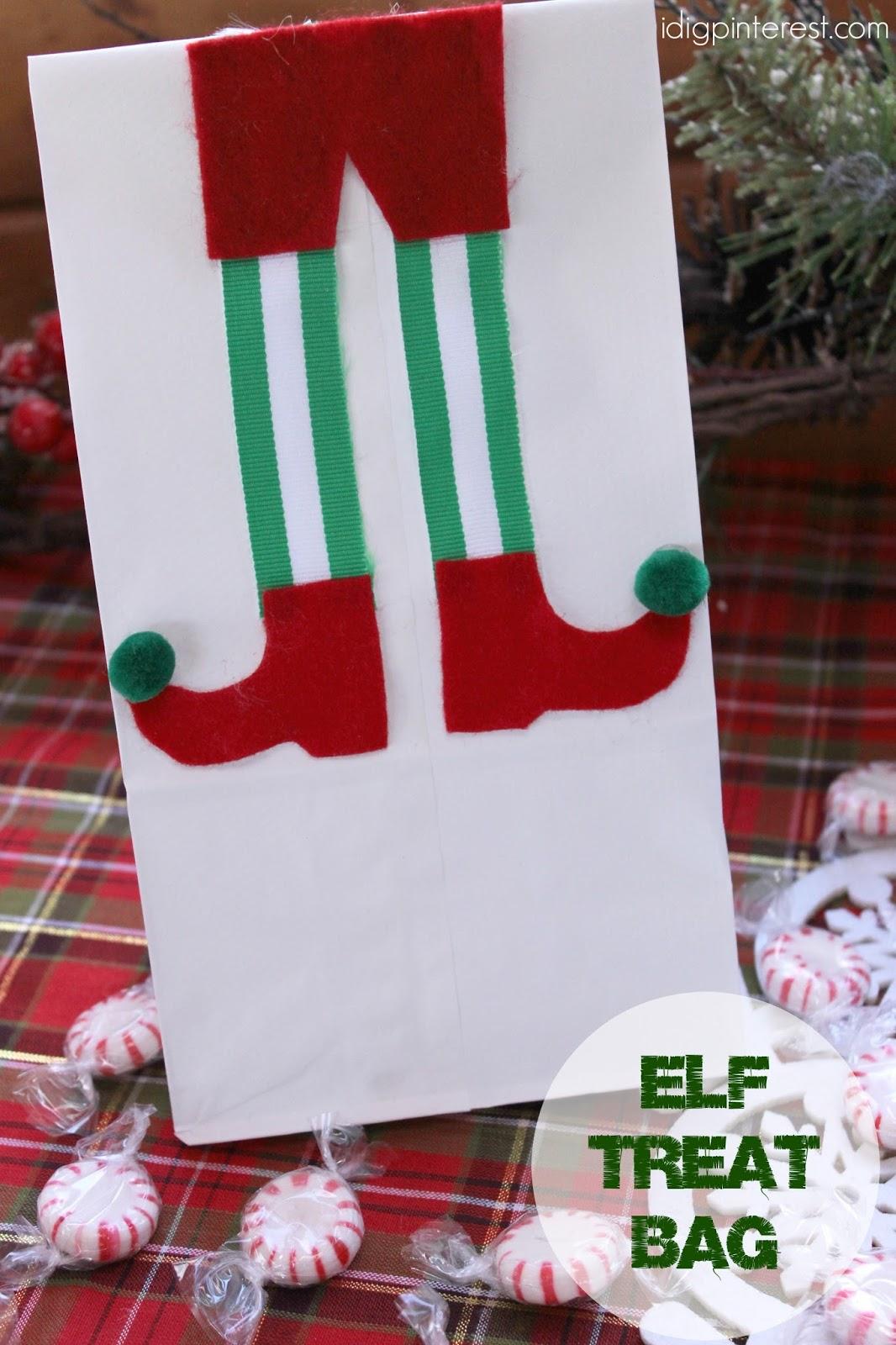 Elf Christmas Gift Bags.Elf Treat Bag I Dig Pinterest