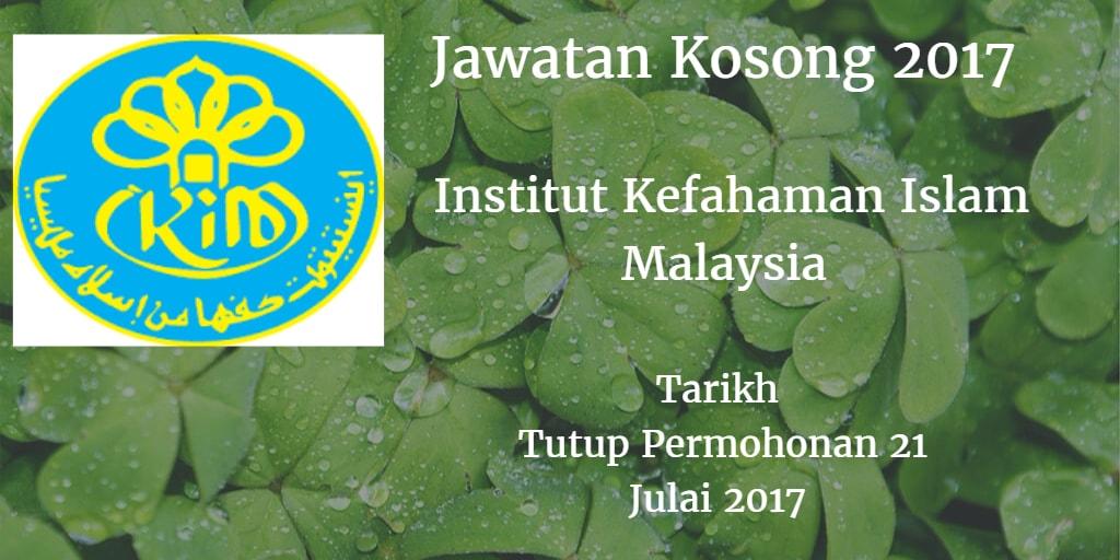 Jawatan Kosong IKIM 21 Julai 2017