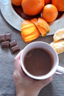 pomarańczowa gorąca czekolada