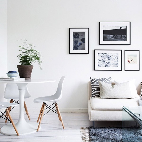 my scandinavian home monochrome and mid century in lovely swedish spaces. Black Bedroom Furniture Sets. Home Design Ideas