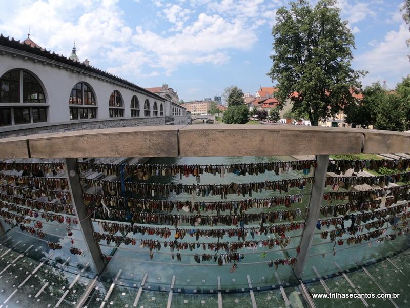 Ponte dos Cadeados Ljubljana Eslovênia