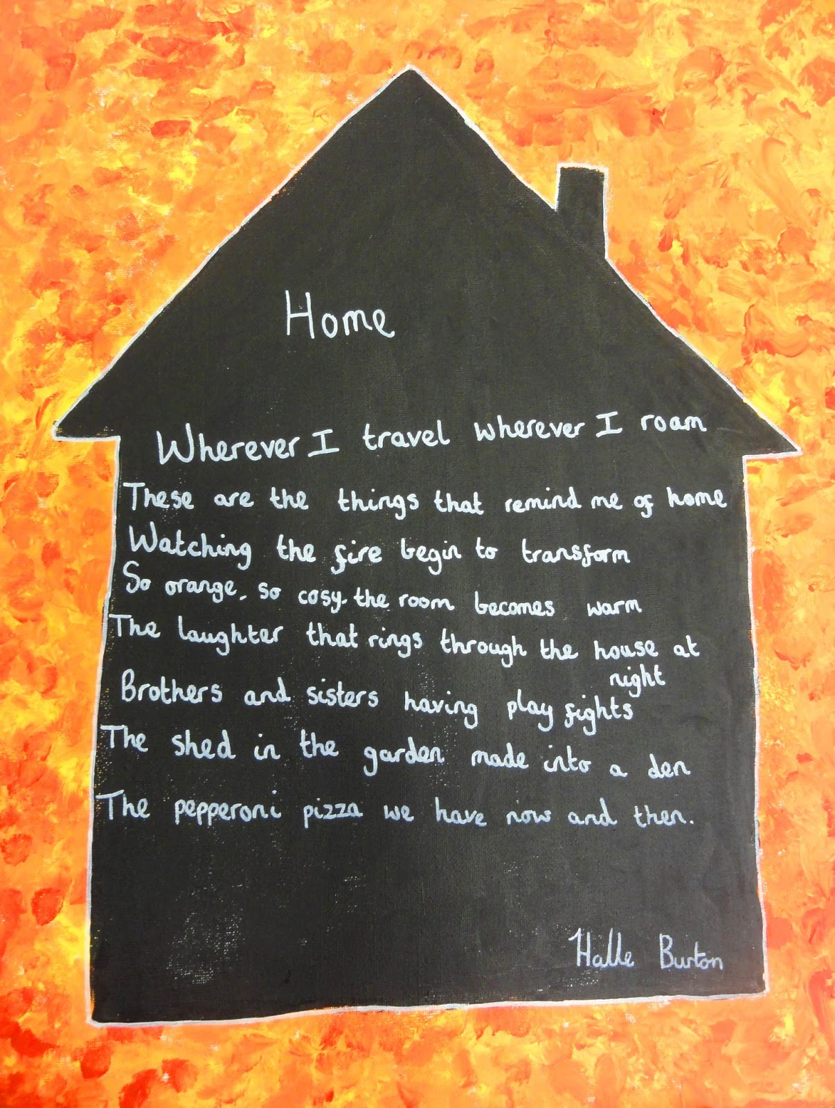 I Read The Poem Home By Edgar Albert Guest And Then Children Was Working With Wrote Their Own Poems About What Makes House A