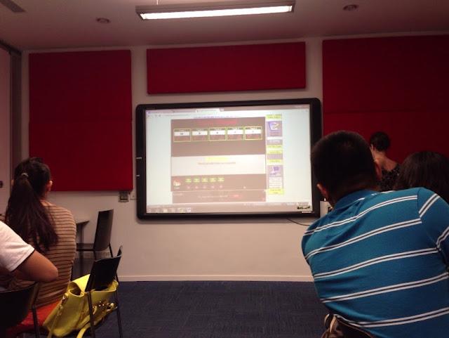 display-study タッチパネルによる授業