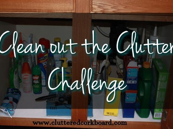 Clean out the Clutter Challenge week #2 - Kitchen Cabinets