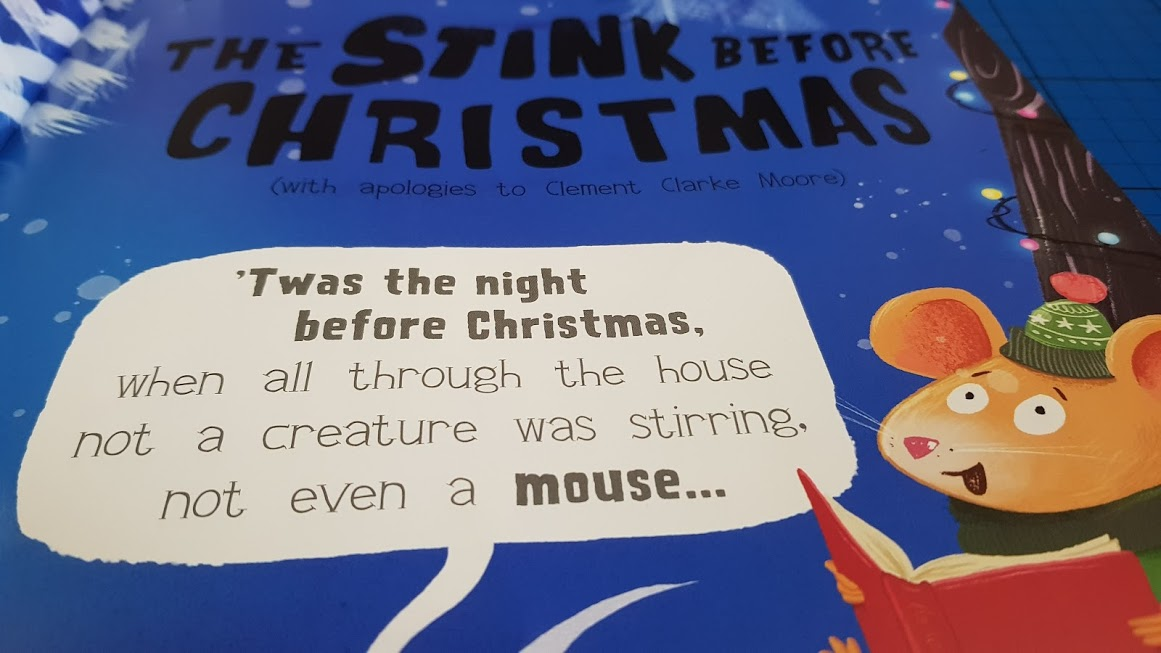 the night before christmas book words