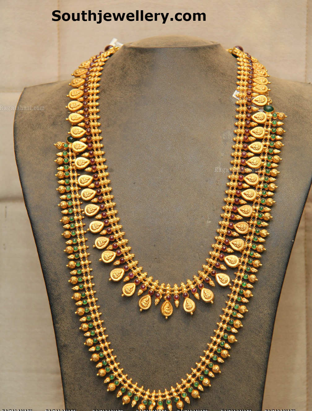 Traditional Kasu Mala and Beaded Haram - Jewellery Designs