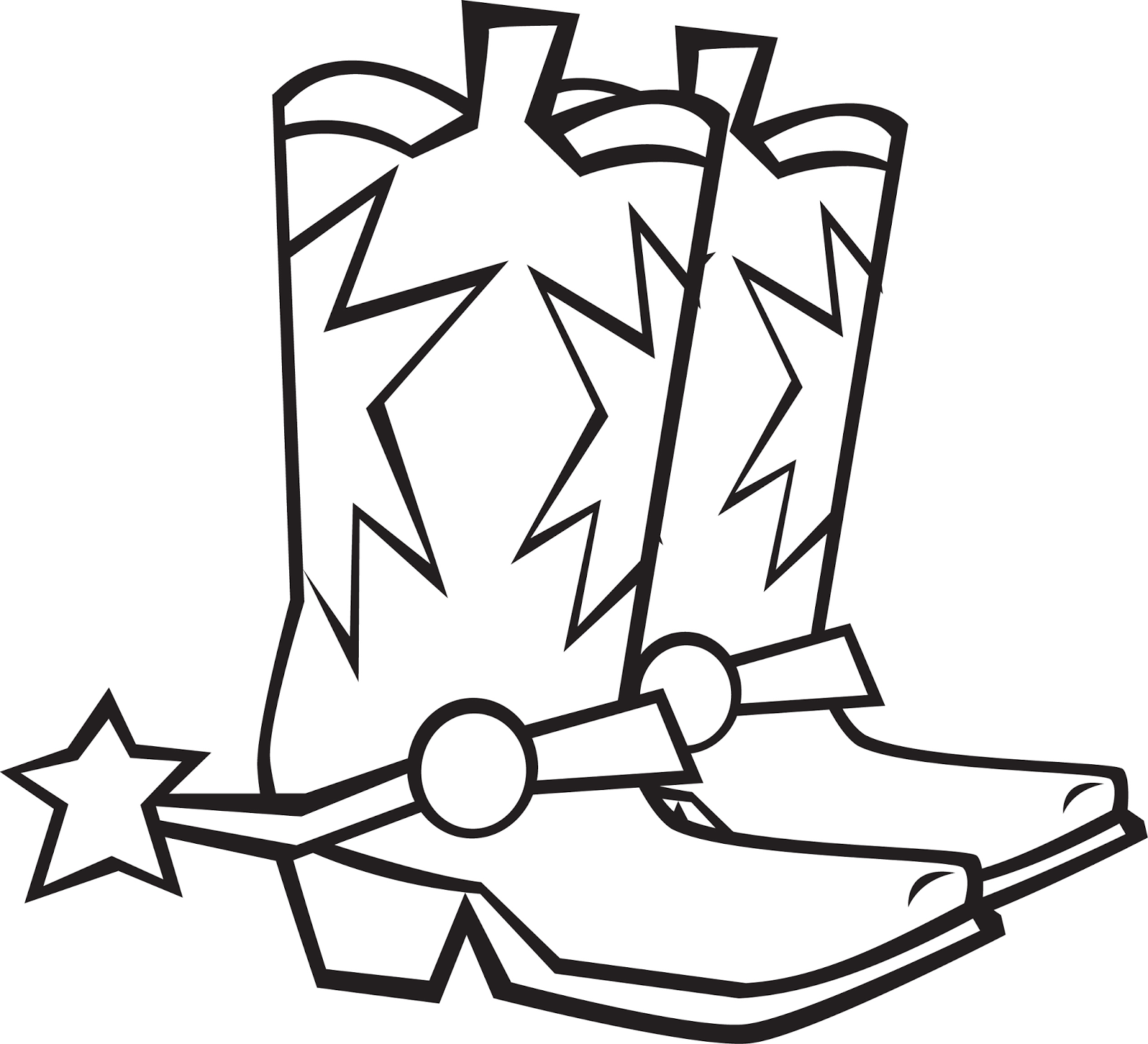country boots coloring pages - photo#22