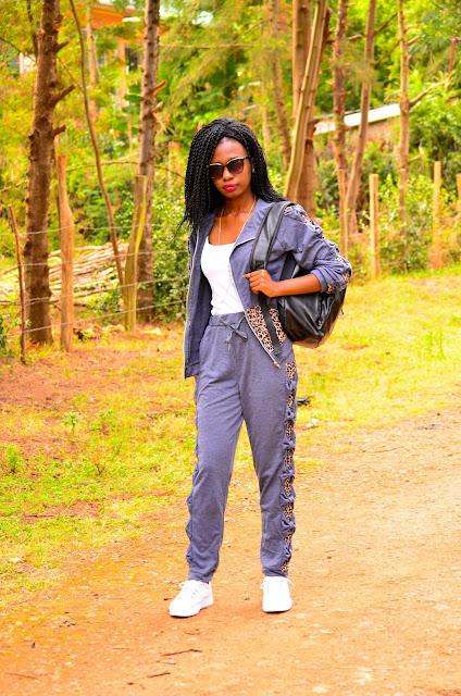 How to wear the tracksuit trend, weekend wear idea