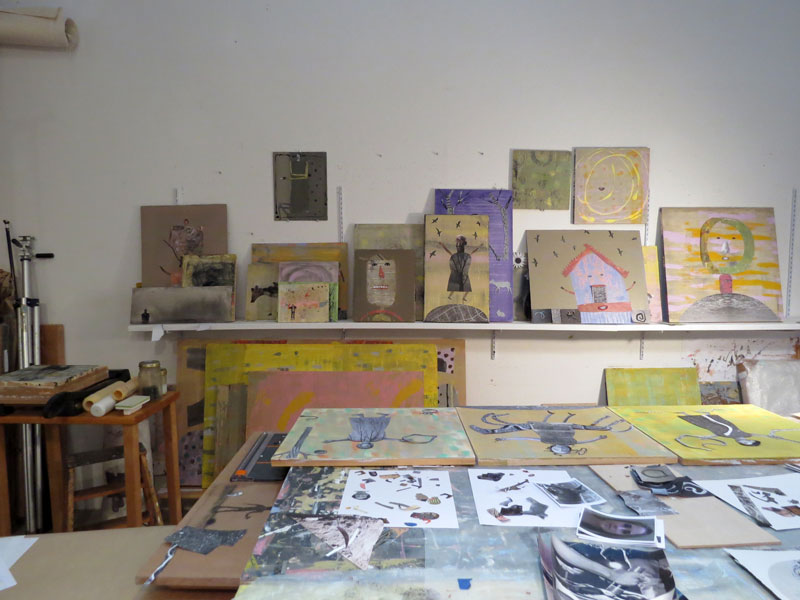 I'm left with a mountain of work: the careful, precise, and anal job of  adhering the images permanently, then coated with a final varnish(NOT NOT  fun).