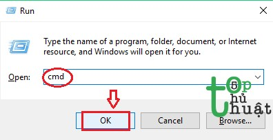 Mở giao diện cmd trên máy tính