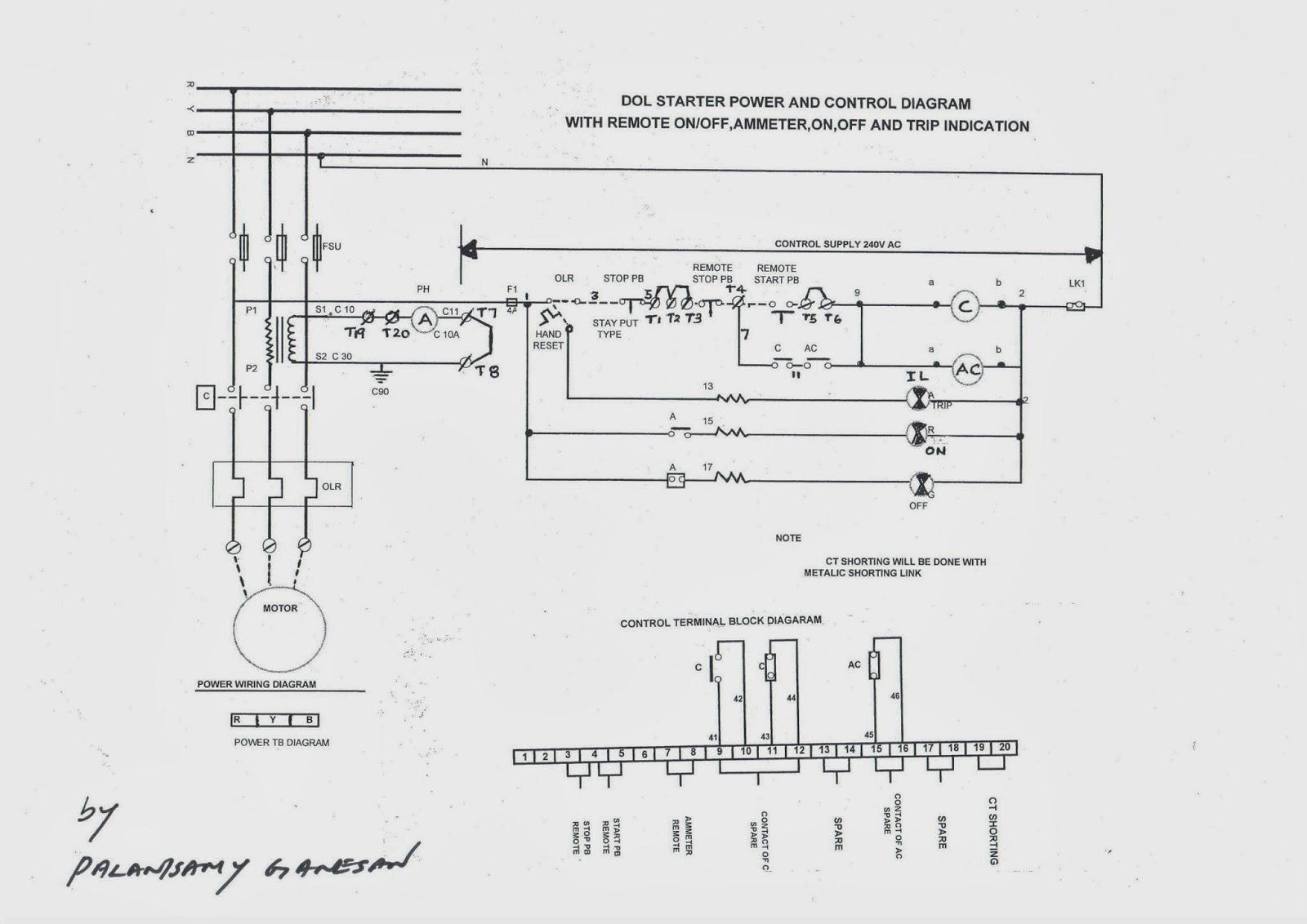 control wiring diagram of dol starter [ 1600 x 1132 Pixel ]