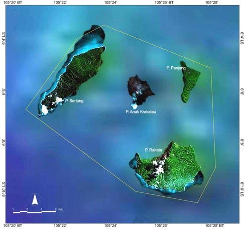 Krakatau Tour: Peta Krakatau