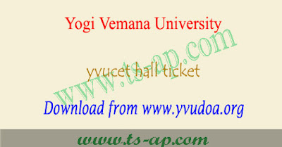 YVUCET hall tickets 2020 download yvu pgcet