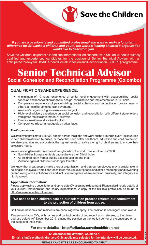 Senior Technical Advisor