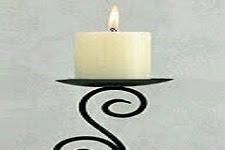Harga Ornamen Tempat Lilin Terbuat dari Besi Dibentuk Cantik Harga Murah