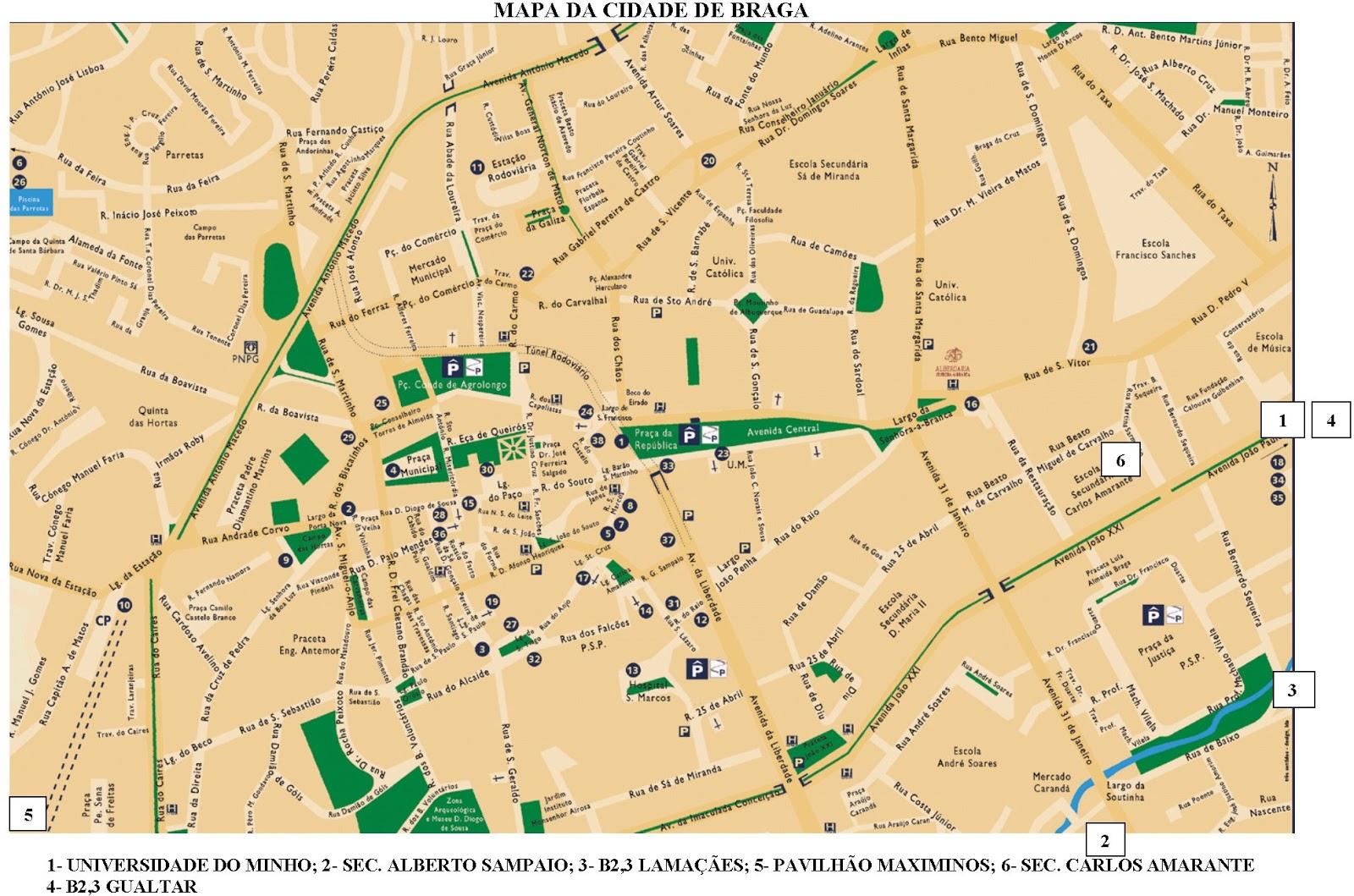 mapa braga Mapas de Braga   Portugal | MapasBlog mapa braga
