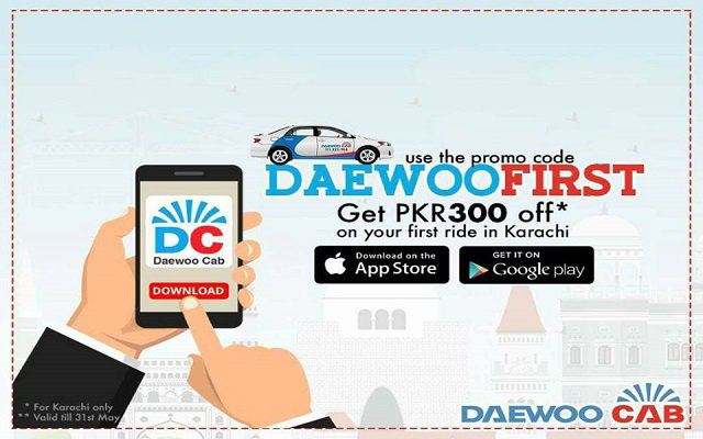 Daewoo Launched Ride Hailing Taxi App Service to Compete with Uber & Careem