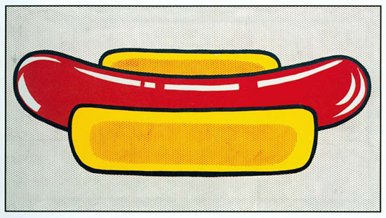 😀 Roy lichtenstein mustard on white. Critics At Large