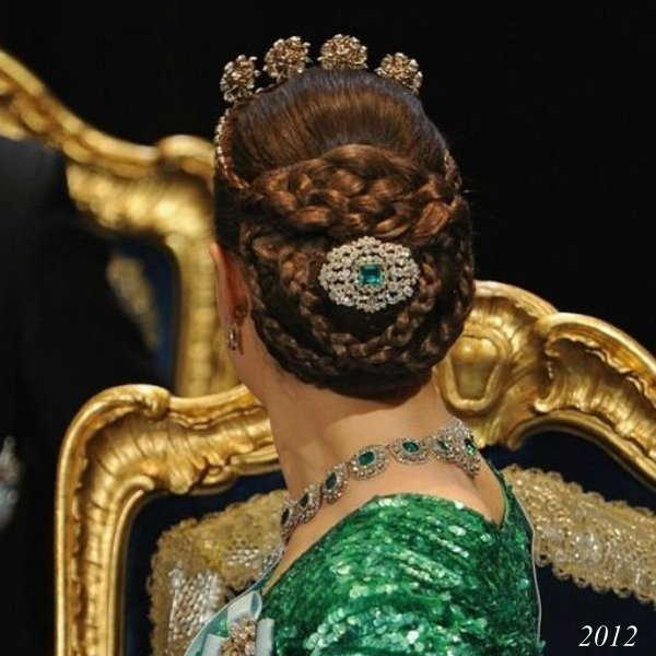Hairstyles With Crown Queen: Hairstyle Of Princess Victoria At Nobel Prize Ceremonies