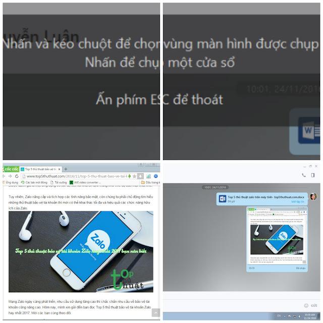 Chụp ảnh màn hình trên Zalo PC nhanh chóng đơn giản